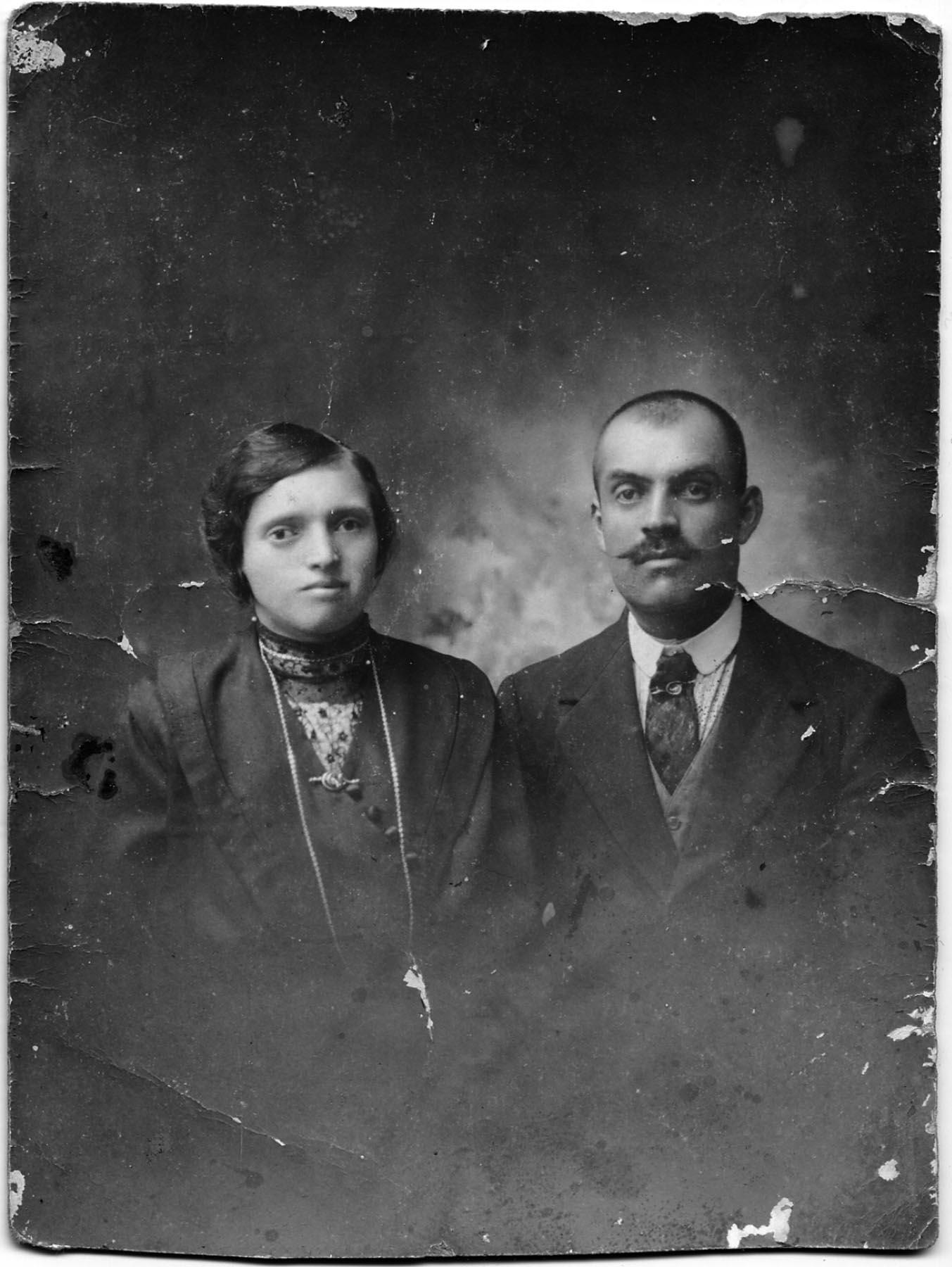 I genitori: Maria Marini e Andrea Dalzini